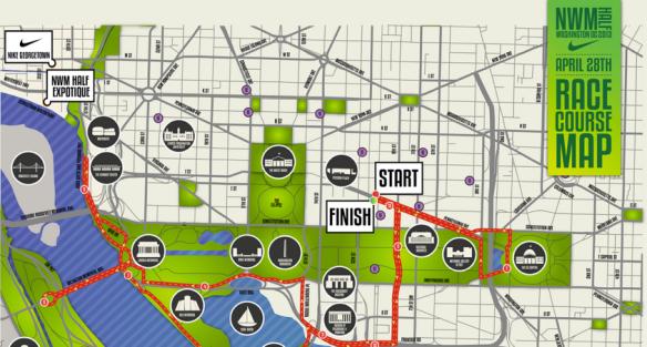 The Nike DC Half-Marathon Course