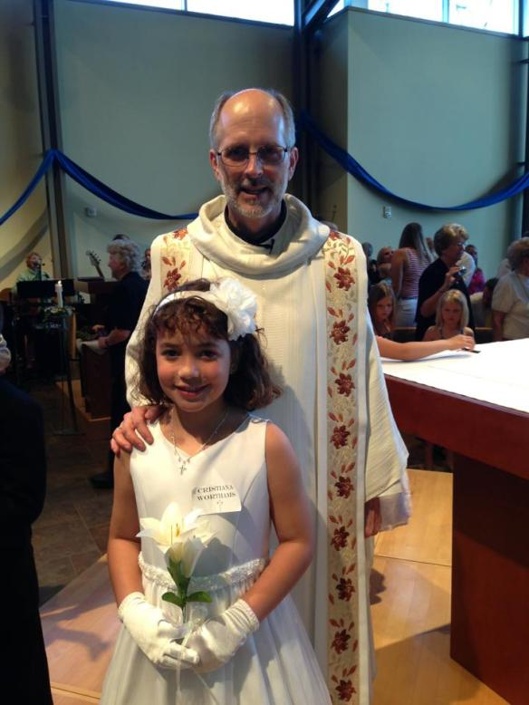 5-4-13 Cristiana with Fr. Ken