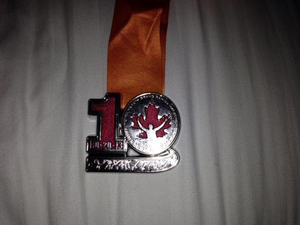 My 1st 1/2 Marathon Medal!!!